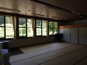 宿泊場所-元教室